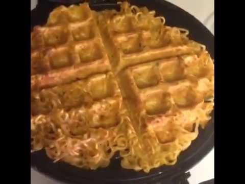 cara membuat waffle mi © 2018 Istimewa