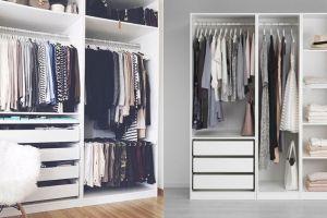 10 Ide desain lemari tanpa pintu ini simpel dan artistik banget