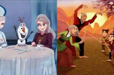 8 Ilustrasi gambarkan masa tua Putri Disney dan keluarga, kreatif
