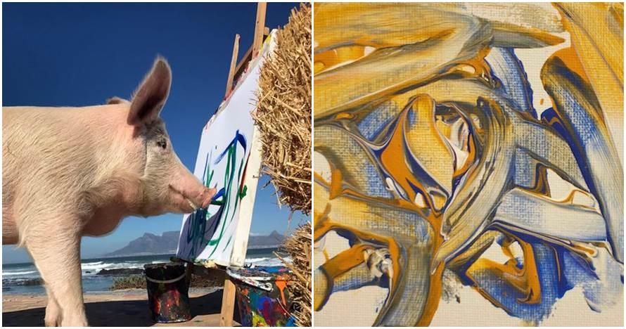 Tak biasa, 5 hewan ini bisa bikin lukisan harganya jutaan rupiah