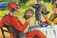 7 Ilustrasi jadul ini ramal teknologi canggih masa depan, jadi nyata