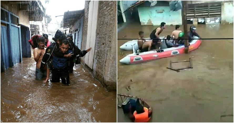 Sebagian Jakarta mulai banjir, ini 7 foto-fotonya