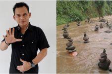 Heboh batu bersusun di Sukabumi, ini tanggapan mengejutkan Mbah Mijan
