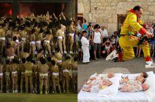 10 Perayaan paling unik di dunia, dari telanjang hingga lompati bayi