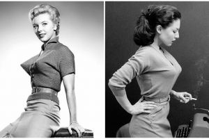 15 Potret bullet bra, pakaian dalam cewek serba lancip era 1940-an
