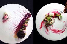 7 Kreasi plating makanan ini mirip karya lukis, kreatif banget