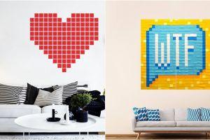 Nggak perlu cat, yuk intip 9 dekorasi dinding rumah dari sticky notes