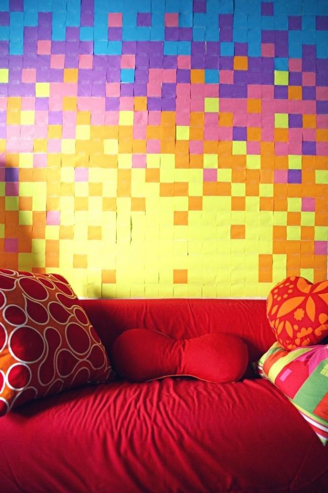 Dekorasi dinding dari sticky notes © 2018 brilio.net