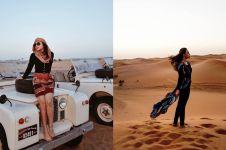 Gaya 7 seleb Tanah Air liburan di gurun pasir, asyik bareng unta