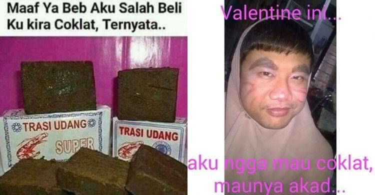 10 Meme kocak sambut Valentine bikin pengen ketawa cekikikan
