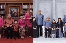 8 Gaya pemotretan keluarga SBY, kostumnya selalu kompak