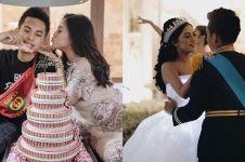 Rayakan setahun pernikahan, Rachel Vennya diberi 'kue uang' suaminya