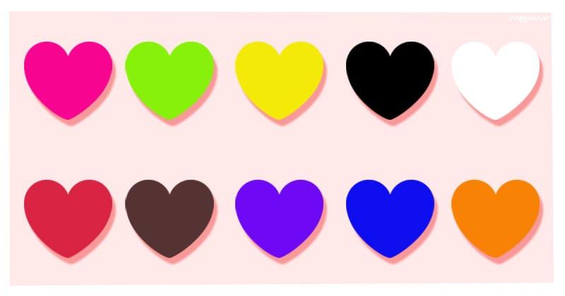 Pilih 1 warna hati, hasilnya bisa ramal kejadian di hari Valentinemu