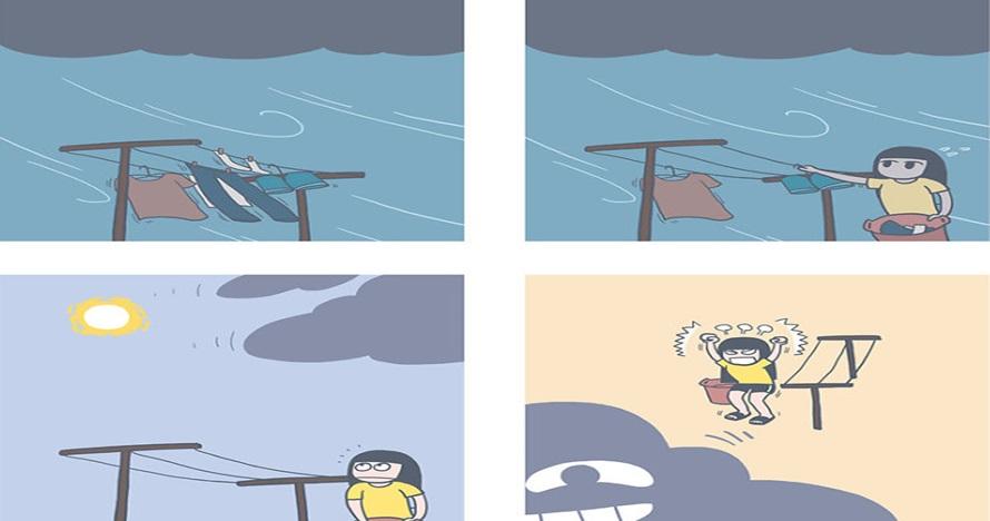 10 Komik gambarkan cuaca juga bisa jahil, sering kamu alami nih