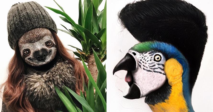 7 Makeup mirip binatang ini detailnya keren banget, dijamin terkesima