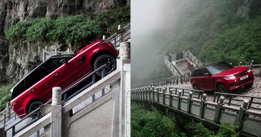 Mobil ini bisa berjalan sejauh 11,3 km di tangga, bikin takjub