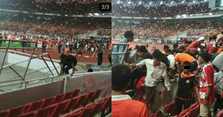 10 Aksi anarkis suporter rusak SUGBK saat final Piala Presiden, miris