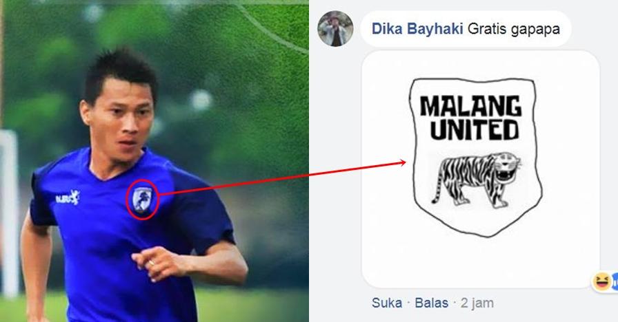 10 Desain logo Malang United ala warganet ini bikin mules nahan tawa