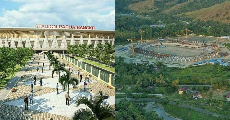 10 Potret pembangunan stadion megah dan cantik di Papua, saingan SUGBK
