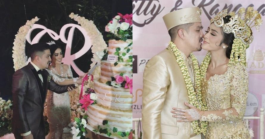 10 Momen meriah nikahan Selvi Kitty-Rangga Ilham, temanya garden party
