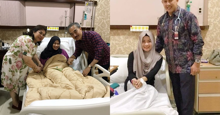 4 Potret Ikke Nurjanah terbaring di rumah sakit, tampak lemas