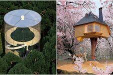 10 Bangunan keren ini dibangun di pohon, dari TK hingga restoran