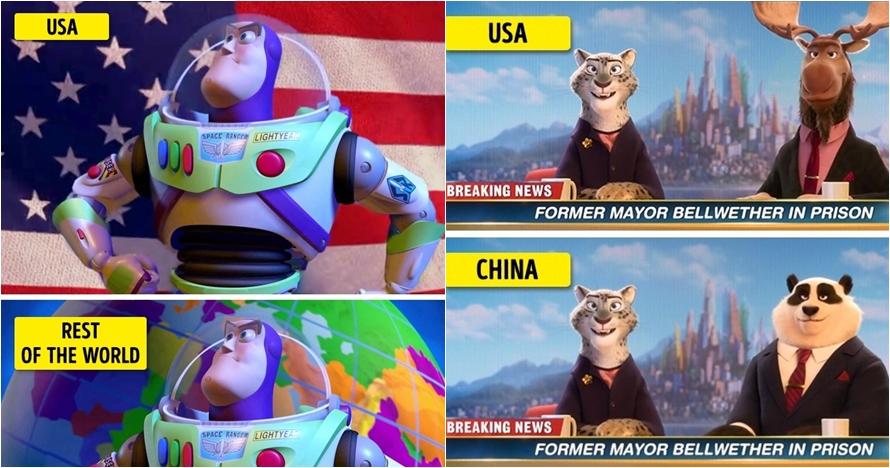 7 Film animasi terkenal ini punya adegan berbeda di negara lain