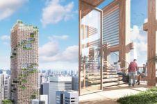 5 Penampakan rancangan gedung kayu tertinggi dunia, dibangun di Jepang