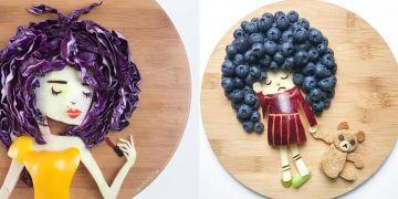 10 Karya bentuk rambut dari buah-sayuran ini unik dan kreatif abis