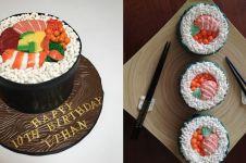 Manis dan lembut, ini 7 kreasi kue bentuk sushi yang lagi ngetren