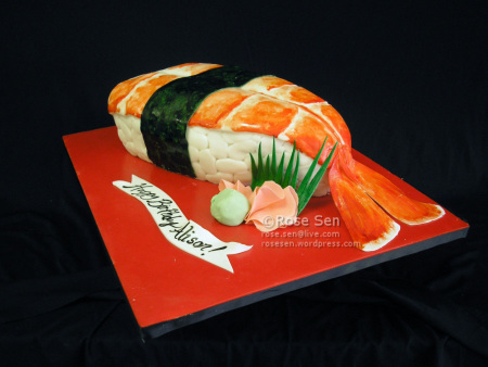 kue bentuk sushi © 2018 Istimewa