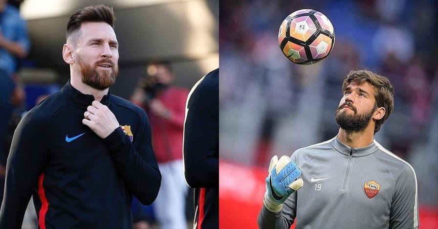 7 Potret Alisson Becker, kiper AS Roma yang disebut mirip Messi
