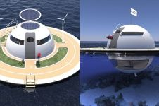 10 Penampakan desain kapal pesiar mirip UFO, canggih dan nyaman banget