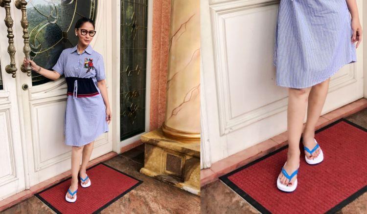 Sepintas tampak biasa, sandal jepit Inul ini bikin syok warganet
