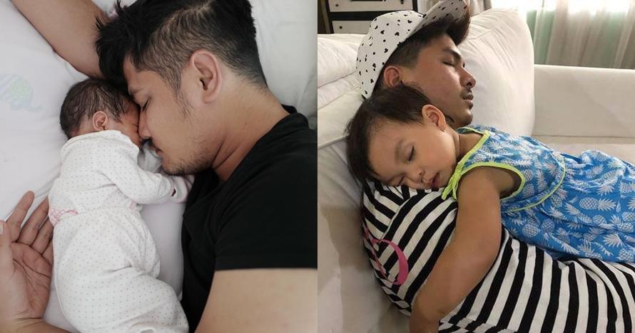Momen manis 7 seleb ganteng tidur bareng anak, ayah idaman banget