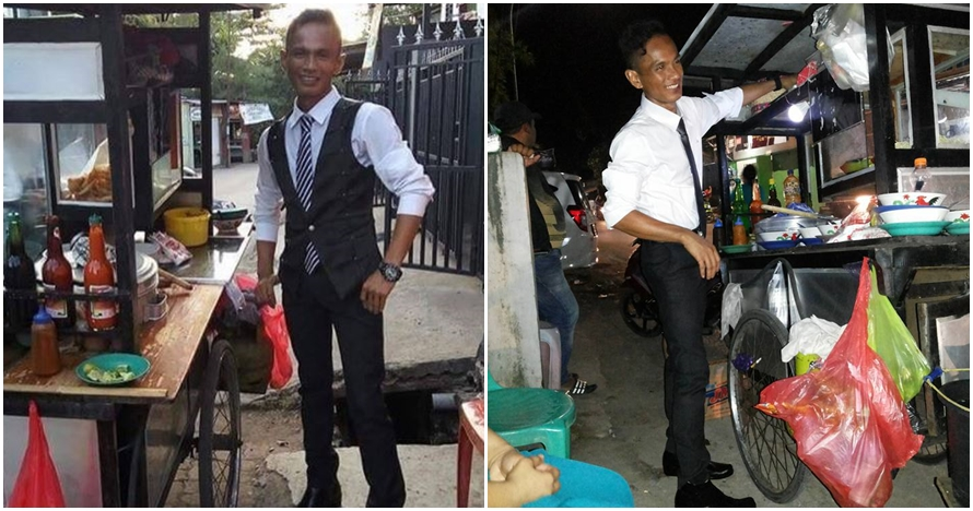 8 Gaya abang bakso di Makassar ini nyentrik banget, stylish maksimal
