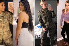 Potret 20 tentara wanita saat tak berseragam militer, seksi bak model