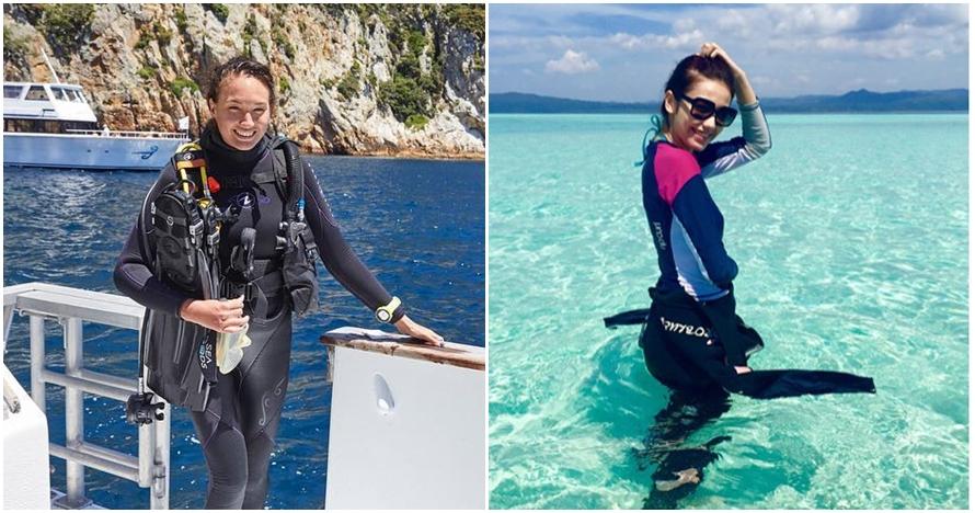 Pesona 5 seleb cantik saat sedang diving, memesona dengan baju ketat