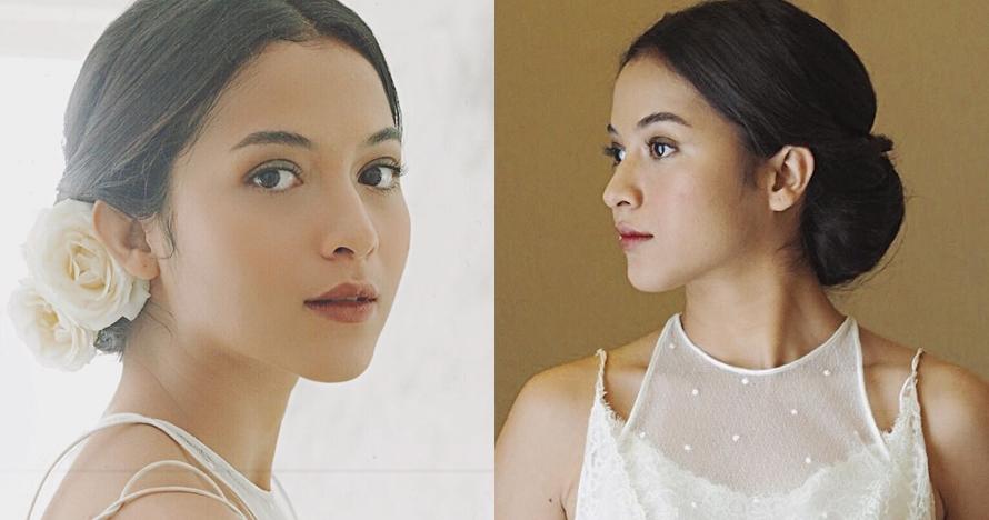 Ini potret cantik Putri Marino tanpa makeup berlebihan saat pernikahan