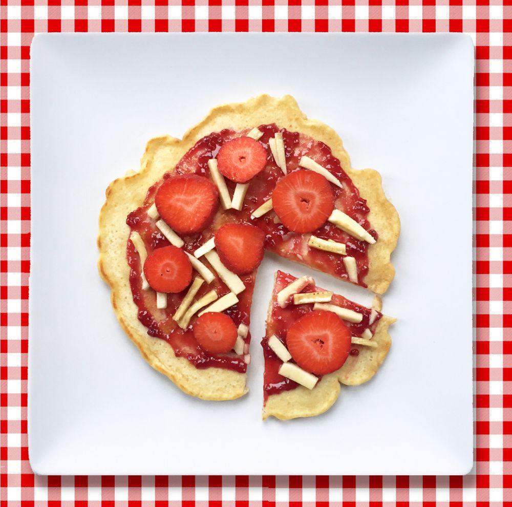 Kreasi bentuk pancake © 2018 Instagram