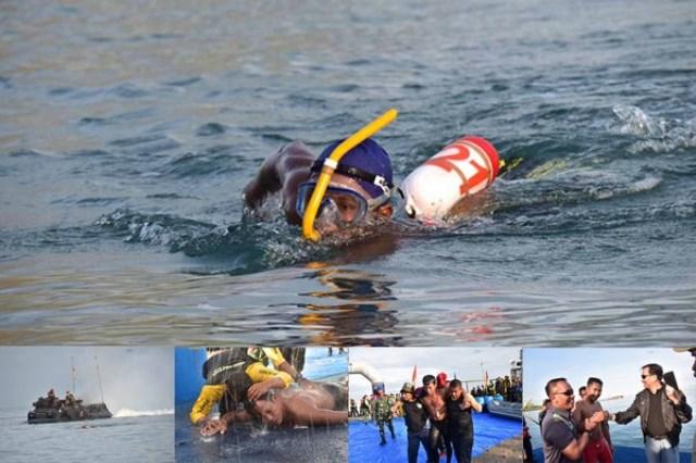 10 Momen Marinir Indonesia berenang 39 km seberangi Selat Sunda