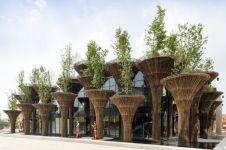 10 Bangunan dari susunan bambu ini tampak rumit tetapi menakjubkan