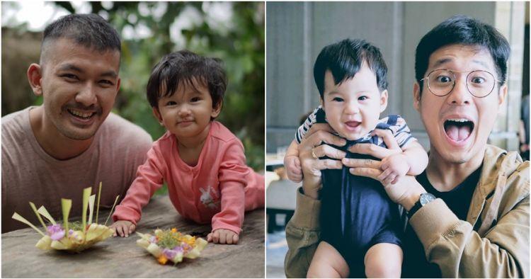 Adu gaya Rio Dewanto dan Junior Liem saat asuh anak, mana favoritmu?