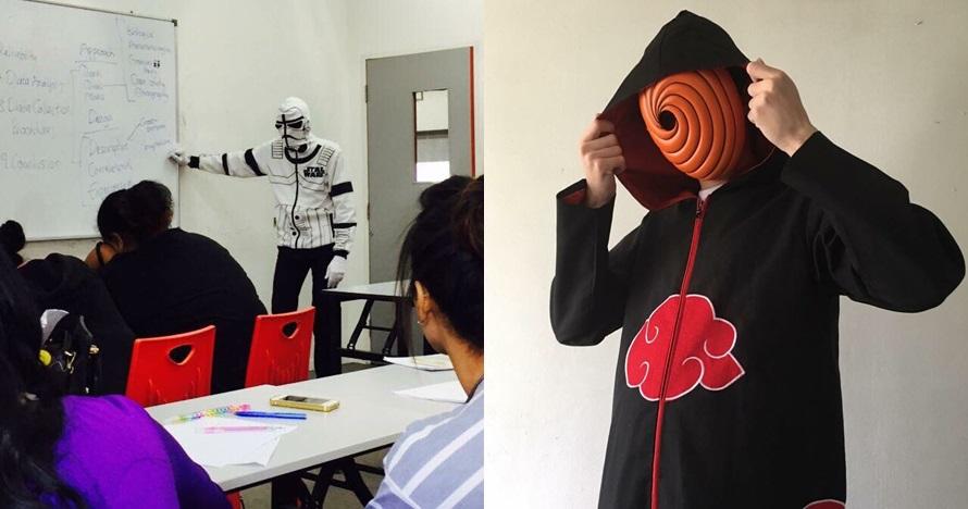 Pakai seragam cosplay saat mengajar, 10 gaya dosen ini nyentrik banget