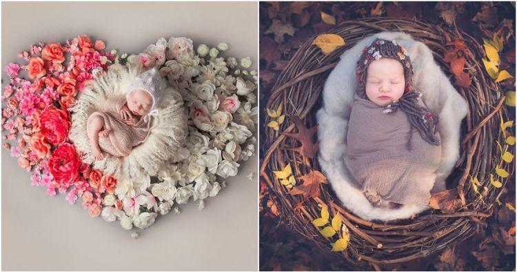 15 Foto pemotretan bayi dikelilingi bunga, keren dan bikin ...