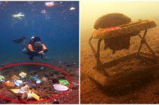 Bukannya indah, 5 potret bawah laut Indonesia ini justru penuh sampah