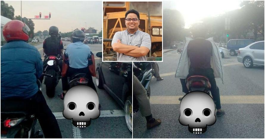 Pria ini ungkap bahayanya pakai jaket terbalik saat naik motor, ngeri