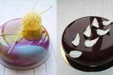 8 Kreasi mirror glaze cake, kue bak keramik yang lagi hits
