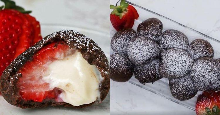 Renyah dan segar, ini resep strawberry cheesecake goreng