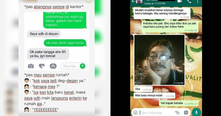 10 Chat driver ojol dan pelanggan mencari cinta ini bikin ngakak